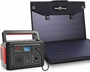 Rockpals 350w Portable Power Station And Rockpals Foldable 100w Solar Panel Char