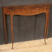 Small Inlaid Console Furniture Side Table 1 Drawer Antique Style 20th Century