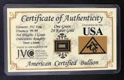 Acb Lot Of 300 .999 Fine 24k Solid Gold Bar Ingot With Coa   Gold Is Rising