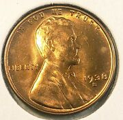 1938-s Lincoln Wheat Cent Penny Gorgeos B U Ch Gem Nice Luster From Obw Roll