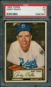 1952 Topps 1 Rb Andy Pafko Psa 3 7647