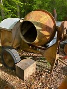 Antique Cement Mixer With Stover Hit And Miss Engine Late 30and039s Model