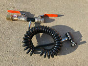 Deluxe Paintball Dual Valve Lever Remote Coil Line Co2 Fill Station Refill Tank