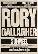 Rory Gallagher And Sunweel 1976 The Hague, The Netherlands Original Concert Poster
