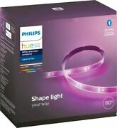 Philips Hue 80 White And Color Ambiance Smart Led Light Strip Plus Bluetooth Read