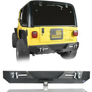 Rear Bumper W/ Led Lights And Receiver Hitches For Jeep Wrangler Yj Tj 1987-2006