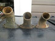 Lot Of 3 1930 1931 Model A Ford Top Water Neck Outlet Inlet Radiator Motor