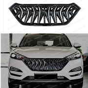 Gloss Black For 2016 17 2018 Hyundai Tucson Grill Facelift Cover Exterior Grille