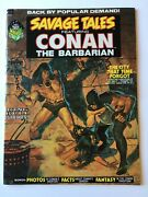 Savage Tales 2 Conan Vfn+ 8.5 Marvel Vol 1 1973 Barry Smith Red Nails