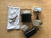 Current Issue Swiss Army Mess Kit / M91 Canteen With Cup / Spork 1
