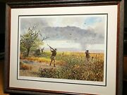 John Cowan Second Wave Lithograph Classic Dove Hunting 1990 New Frame