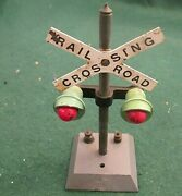 American Flyer Railroad Crossing Signal Tested And Works