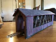 Built Campbell Scale Models Covered Bridge