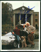 Back To The Future Signed Photo Christopher Lloyd Time Machine Delorean Car