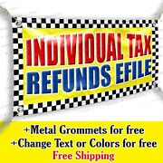 Individual Tax Refunds Efile Advertising Vinyl Banner Sign Many Sizes Usa Made