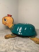 Vintage Fisher Price 150 Timmy Turtle Pull Toy