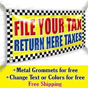 File Your Tax Return Here Taxes Advertising Vinyl Banner Sign Many Sizes Usa