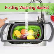 Portable Washing Basin Collapsible Sink Strainers Outdoor Kitchen Bbq Bpa