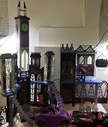 Monster High Deluxe High School Castle Haunted Mansion Doll House Monster Lot