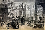 Hitchcock - Chicago Loan Exhibition - Antiques Art Furniture 1878 - Print Matted