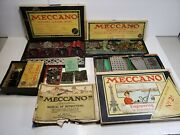 Meccano 1920and039s Lot Playsets - Parts - Instructions - Motor