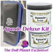 Apoxie Sculpt 2 Part Air Dry Clay And Tools Deluxe Kit For Customizing Dolls