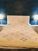 Vintage Handmade Butter Yellow Patchwork Farmhouse Country Full Size Quilt Dream