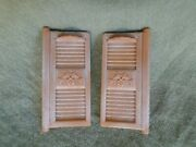 Calico Critters Red Roof Cozy Cottage Starter Home Replacement Exterior Shutters