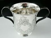 Antique Sterling Silver 2 Handled Porringer Cup London 1759 Shaw And Priest