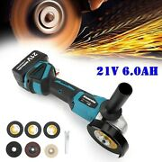 21v 6.0ah Cordless Angle Grinder Battery 4 Cut Off Power Hand Tool Te