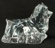 Baccarat Lead Crystal Yorkshire Terrier Yorkie Dog Clear Glass Figurine France