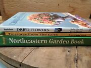 Flower Garden Arts And Crafts Hobby Books Dried Floral Decor Ideas Lot Of 3