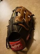 Rawlings Baseball Glove Lht Leather 12.75 Black/brown D1275bdb Outfield