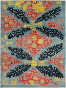 Modern Hand-knotted Carpet 12and0391 X 9and0393 Light Blue Wool Area Rug