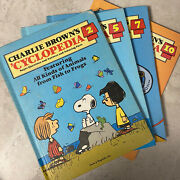 Charlie Brown Vintage 1980 Funk And Wagnalls Encyclopedia Books Set Of 7