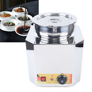 6l Large Electric Countertop Food Sauce Warmer Buffet Server Stainless Steel