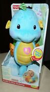 New Fisher-price Ocean Wonders Blue Seahorse Soothe And Glow Musical Light-up Nib