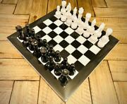 Handmade Vintage Marble Chess Board 15 Marble Chess Set Adult Chess Board Game