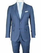 Caruso Suit In Blue With Glencheckmuster From Connoisseur Superfine 130's