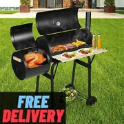 Bbq Grill New Charcoal Outdoor Portable Barbecue Smoker Camping Stainless Steel