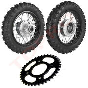 Front And Rear 2.5-10 10 Wheels Tires And Rims 2.50-10 W/ Sprocket Fo Crf50 Ttr50
