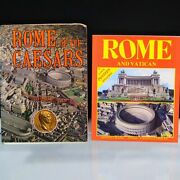 Rome And Vatican History Pictorial Books Rome Of The Caesars 2 Posters Maps