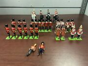 Britains Lead Toy Horse Soldier And Marching Band + Others Lot Of 29 England 1986