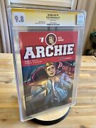 Archie 1 V2 2015 Cgc 9.8 Signed By Mark Waid Story Fiona Staples Cover And Art
