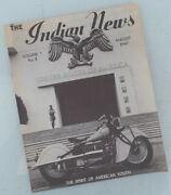 1940 Indian Motorcycle News Magazine Book Brochure Chief Scout Four