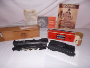 Lionel Postwar 2065 Engine And 6026w Whistling Tender Clean + Boxes Lot N-44