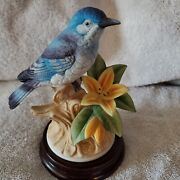 Andrea, Mountain Bluebird, 8627, With Wooden Display Base, 6 1/2, Neat