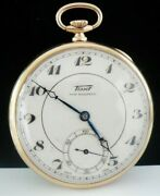 9ct Gold Tissot Open Face Pocket Watch From 1934