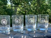 Vice President Dick Cheney Autographed Whiskey Crystal Glasses - Set Of Four