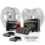 K15033dk Powerstop Brake Disc And Drum Kits 4-wheel Set Front And Rear New